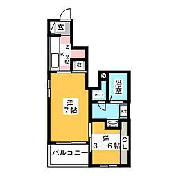 ハウスアメニティ[1階]の間取り