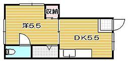 プリンスハウス[1階]の間取り