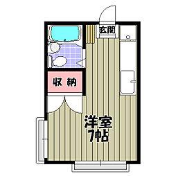 大阪府富田林市若松町西1丁目の賃貸アパートの間取り