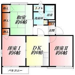 Green Apartment A棟[2階]の間取り