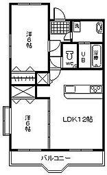 第6高江柄マンション[405号室]の間取り