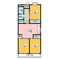 浅井ハイツ[7階]の間取り