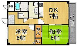 エミネンス武庫之荘[2階]の間取り