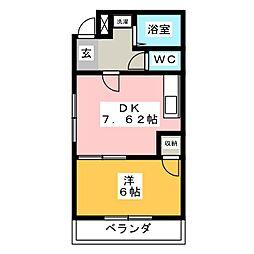 トラディジオナーレ東岡崎[2階]の間取り
