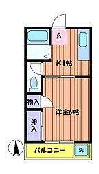 メゾン聖武[2階]の間取り