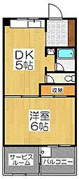 第二北豊マンション[2階]の間取り