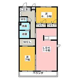 シャーメゾンK[3階]の間取り
