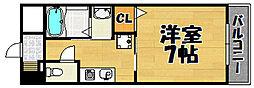 兵庫県川西市東久代2丁目の賃貸マンションの間取り