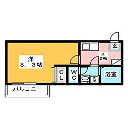クレフラスト箱崎東[1階]の間取り