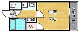プレアール牧野[2階]の間取り