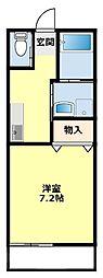 愛知県豊田市浄水町伊保原の賃貸マンションの間取り