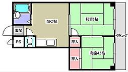 Mプラザ津田駅前2番館[3階]の間取り
