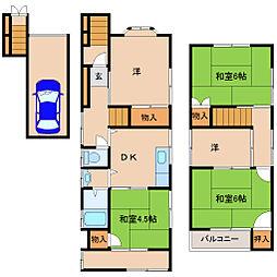 [一戸建] 兵庫県尼崎市西難波町5丁目 の賃貸【/】の間取り
