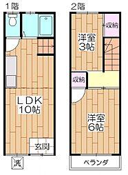 [一戸建] 東京都足立区西新井本町4丁目 の賃貸【/】の間取り