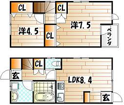 フィールド・イン湯川II C棟[2階]の間取り