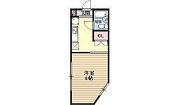 第10パールハイツ藤[4A号室号室]の間取り