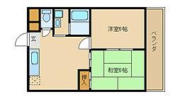 アビタシオン・リオ・1[3階]の間取り