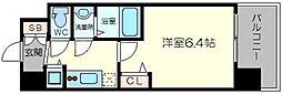 アドバンス新大阪ウエストゲート2 13階1Kの間取り
