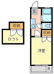 HOUSE CHIKI[2F 206号室]の間取り