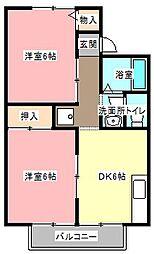 ハミングシマヅ[1階]の間取り