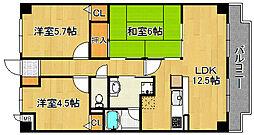 ココ西宮[3階]の間取り