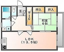 岡山県岡山市北区万成西町の賃貸アパートの間取り