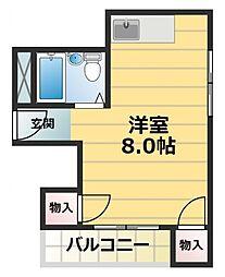 スター21深江南[4階]の間取り