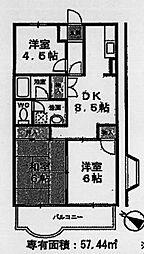 ラディアンテ加美平[4階]の間取り