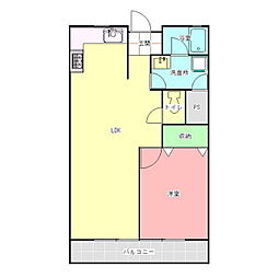 メゾンKOBAYASHI[202号室]の間取り