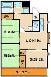 ラフィナートYOK[4階]の間取り