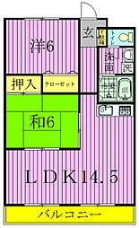 笠井ハイツ[503号室]の間取り
