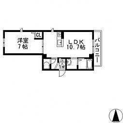 シャーメゾン俊徳町[303号室号室]の間取り