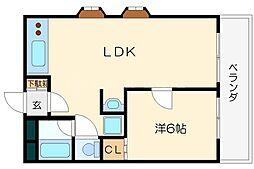 第3高光マンション[3階]の間取り