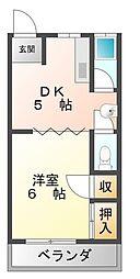 藤岡マンション[3階]の間取り
