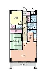ライズウィステリア[2階]の間取り