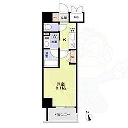 名古屋市営鶴舞線 丸の内駅 徒歩8分の賃貸マンション 2階1Kの間取り