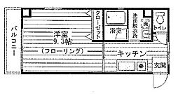 サザンコート堀ノ内[203号室]の間取り
