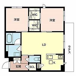 (仮称)八尾市シャーメゾン恩智北町3丁目計画 1階2LDKの間取り