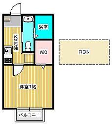 アーバンフォレスト新松戸[2階]の間取り