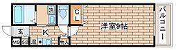 兵庫県神戸市長田区大塚町1丁目の賃貸アパートの間取り