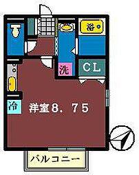 キャトルセゾン(谷津)[2階]の間取り