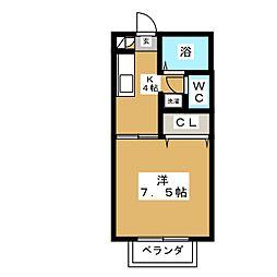FAMILLE SAULE[2階]の間取り