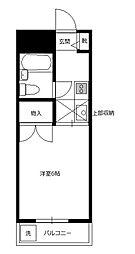 アレイ南大沢[205号室]の間取り