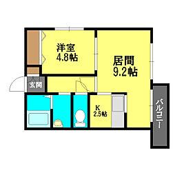 グランメゾン栄通[4階]の間取り