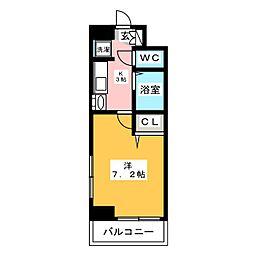 エステムコート博多駅前IIセグティス[7階]の間取り