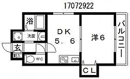 ファイブコート駒川[6階]の間取り