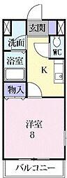 サニーホームハザマ[      2階号室]の間取り