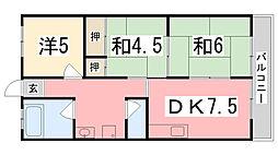 メゾン東加古川[302号室]の間取り