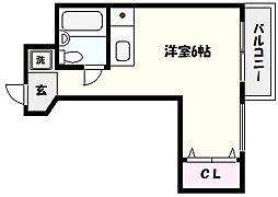 兵庫県芦屋市船戸町の賃貸マンションの間取り