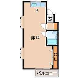 コスモ広瀬[3階]の間取り